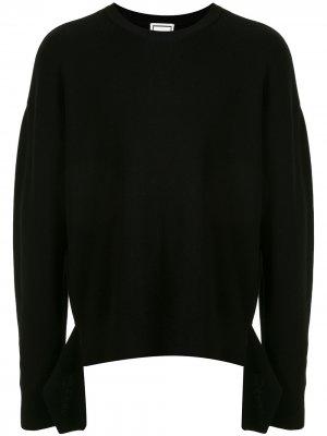 Джемпер асимметричного кроя с длинными рукавами Wooyoungmi. Цвет: черный