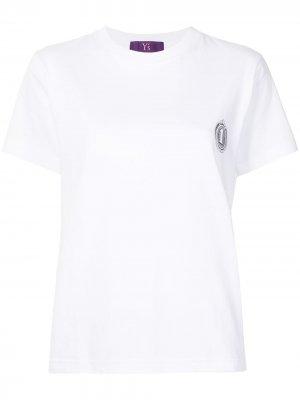 Ys футболка с принтом Y's. Цвет: белый