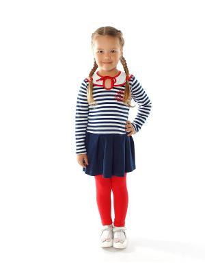 Комплект одежды Апрель. Цвет: белый, красный, темно-синий