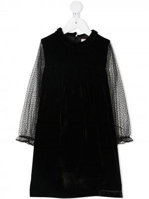Платье в горох Marie-Chantal. Цвет: черный