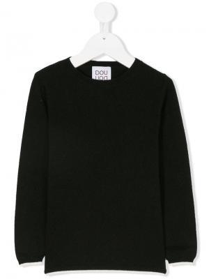 Классический свитер Douuod Kids. Цвет: черный
