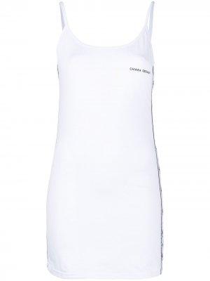 Платье Logomania с логотипом Chiara Ferragni. Цвет: белый