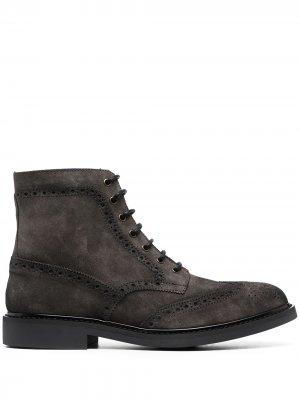 Ботинки с брогированием Manuel Ritz. Цвет: серый