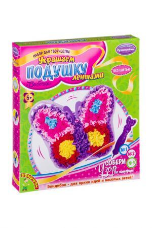 Набор для творчества, бабочка BONDIBON. Цвет: розовый