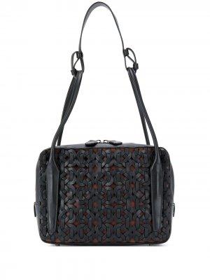 Плетеная сумка на плечо Light Box Rodo. Цвет: черный
