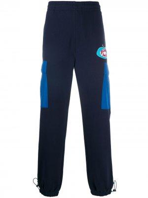 Спортивные брюки в стиле колор-блок Billionaire Boys Club. Цвет: синий