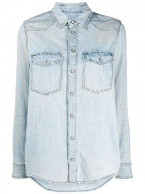 Джинсовая рубашка с логотипом Givenchy. Цвет: синий