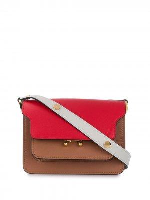 Мини-сумка на плечо Trunk Marni. Цвет: коричневый