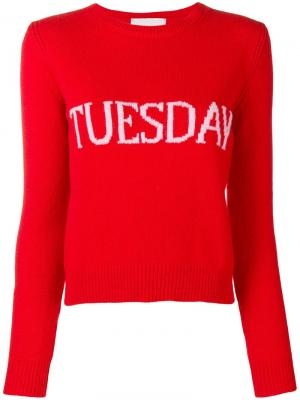 Tuesday jumper Alberta Ferretti. Цвет: красный