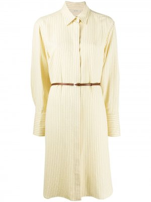 Платье-рубашка с поясом The Row. Цвет: нейтральные цвета