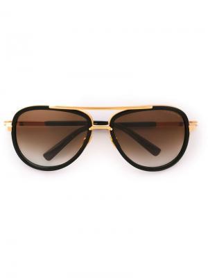 Солнцезащитные очки Match Two Dita Eyewear. Цвет: черный