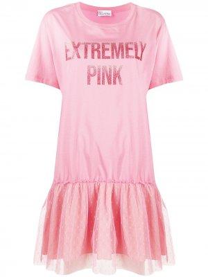 Logo print mini dress RED Valentino. Цвет: розовый