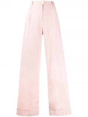 Широкие брюки с завышенной талией Rag & Bone. Цвет: розовый