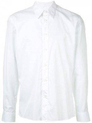 Рубашка узкого кроя с длинными рукавами CK Calvin Klein. Цвет: белый