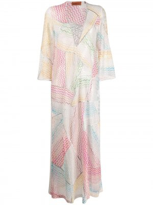 Пляжное платье с волнистым узором Missoni Mare. Цвет: красный