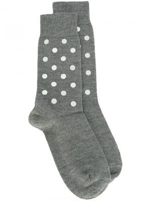 Носки с узором в горох Nº21. Цвет: серый