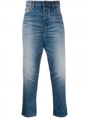 Зауженные джинсы Carrot Fit AMI Paris. Цвет: синий