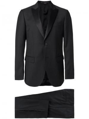 Классический костюм-двойка Mauro Grifoni. Цвет: черный
