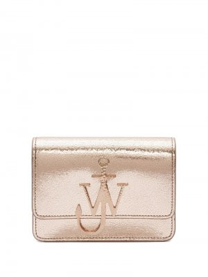 Сумка с эффектом металлик и логотипом JW Anderson. Цвет: коричневый