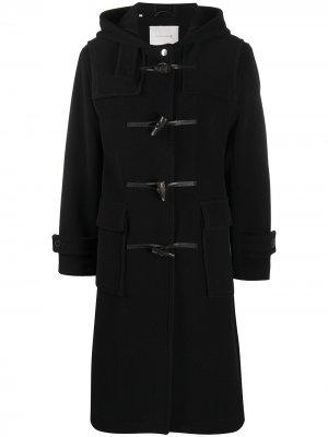 Дафлкот с капюшоном Mackintosh. Цвет: черный
