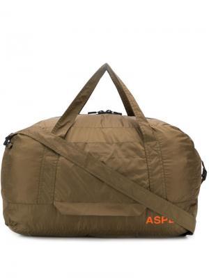 Дорожная сумка с логотипом Aspesi. Цвет: зеленый