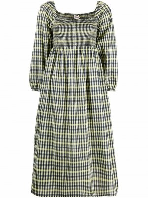 Платье Aquina в клетку Baum Und Pferdgarten. Цвет: желтый