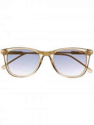 Солнцезащитные очки в квадратной оправе Carrera. Цвет: желтый