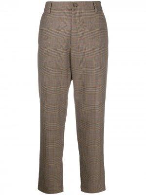 Укороченные брюки в клетку Barena. Цвет: коричневый