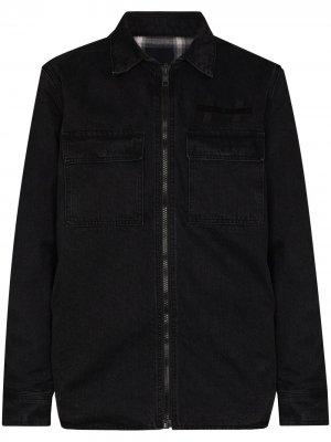 Джинсовая куртка-рубашка Hoodrat Krow Ksubi. Цвет: черный