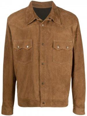 Куртка-бомбер на кнопках Fortela. Цвет: коричневый