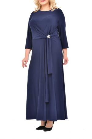 Платье, брошь SVESTA. Цвет: мультицвет