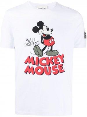 Футболка с принтом Mickey Mouse Iceberg. Цвет: белый