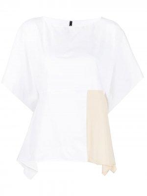 Блузка в стиле колор-блок Pierantoniogaspari. Цвет: белый