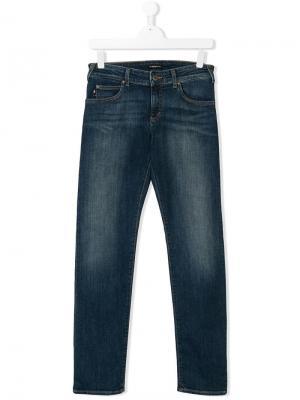 Straight leg jeans Emporio Armani Kids. Цвет: синий