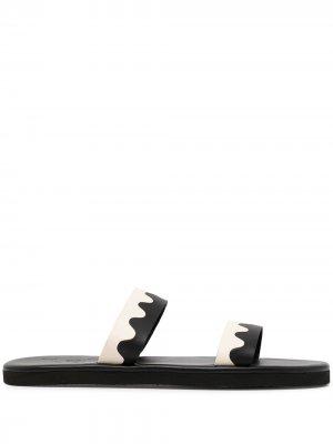 Сандалии Paralia с открытым носком Ancient Greek Sandals. Цвет: черный