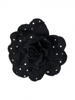 Брошь в виде цветка Philosophy Di Lorenzo Serafini. Цвет: черный