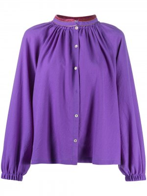 Блузка со сборками Forte. Цвет: фиолетовый