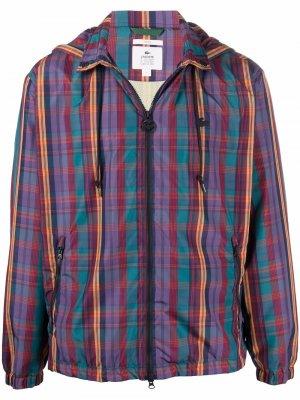 Куртка в клетку Lacoste Live. Цвет: синий