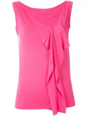 Блузка с оборками на рукавах Gloria Coelho. Цвет: розовый