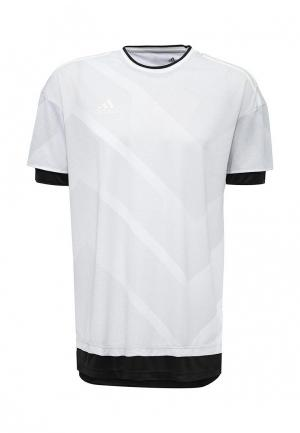 Футболка adidas. Цвет: серый