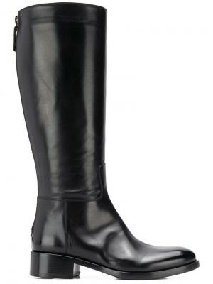 Rear zip boots Vittorio Virgili. Цвет: черный