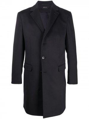 Костюм узкого кроя с однобортным пиджаком Z Zegna. Цвет: синий
