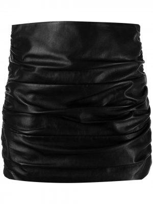 Мини-юбка со сборками Michelle Mason. Цвет: черный