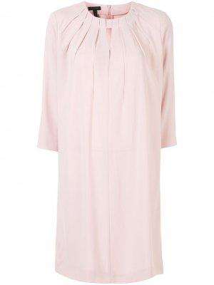 Расклешенное платье с вырезом Escada. Цвет: розовый