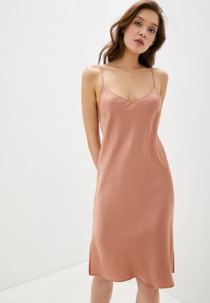 Сорочка ночная Marks & Spencer. Цвет: коричневый