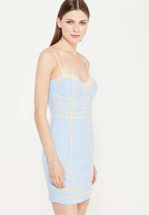 Платье MiraSezar. Цвет: голубой