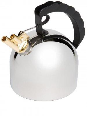Чайник со свистком Alessi. Цвет: серебристый