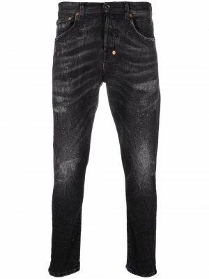 Узкие джинсы с эффектом потертости Prps. Цвет: черный