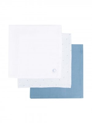 Набор из трех платков с графичным принтом Absorba. Цвет: синий