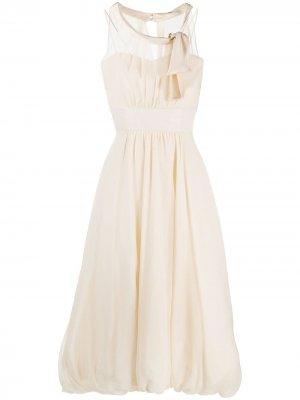 Многослойное платье миди Antonio Marras. Цвет: нейтральные цвета